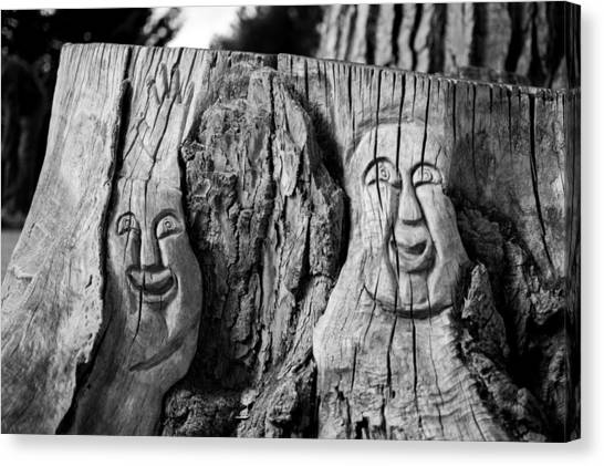 Stump Faces 2 Canvas Print