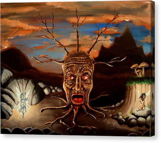 Stump Head Canvas Print
