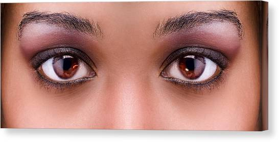 Stunning Eyes Canvas Print by Val Black Russian Tourchin