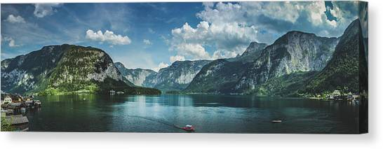 Stunning Lake Hallstatt Panorama Canvas Print
