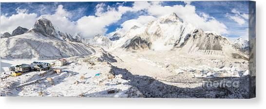 Stunning Nepal - Ebc Canvas Print
