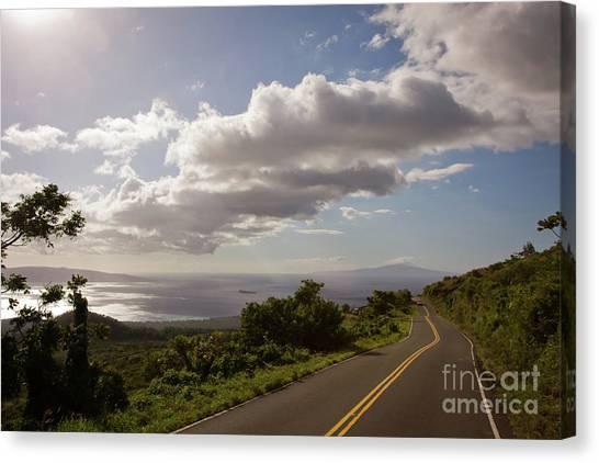 Stunning Sunset On Kula Road Maui Hawaii Canvas Print by Denis Dore