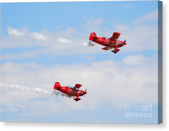Stunt Pilots Canvas Print by Larry Keahey
