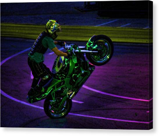 Dirt Bikes Canvas Print - Stunting 2 by Lawrence Christopher