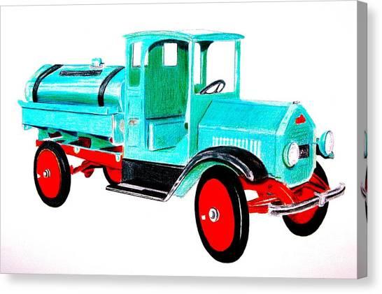 Sturdi Sprinkler Truck Canvas Print
