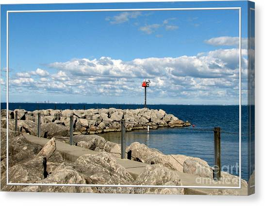 Sturgeon Point Marina On Lake Erie Canvas Print