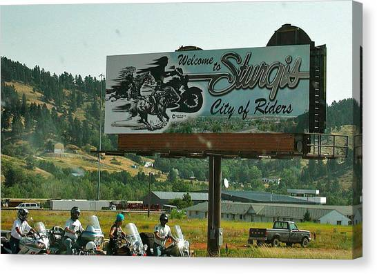 Sturgis City Of Riders Canvas Print