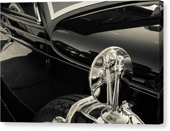 Canvas Print featuring the photograph Stutz Mirror by Samuel M Purvis III