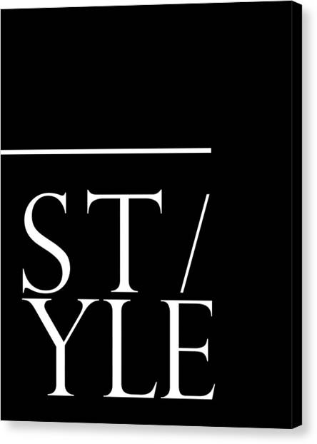 Style 1 - Minimalist Print - Typography - Quote Poster Canvas Print