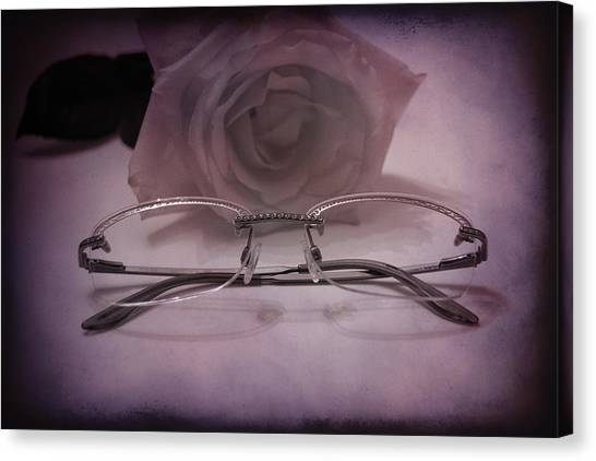 Stylish Specs Canvas Print by Rozalia Toth