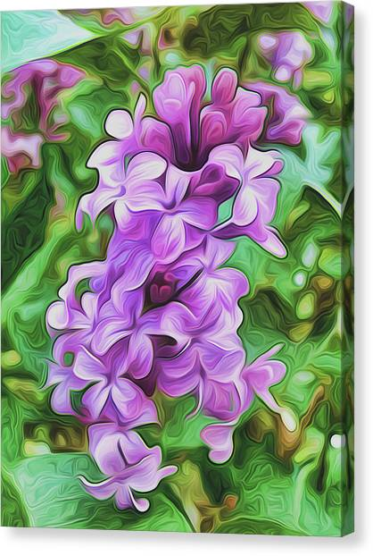Stylized Spring Lilac By Frank Lee Hawkins Canvas Print