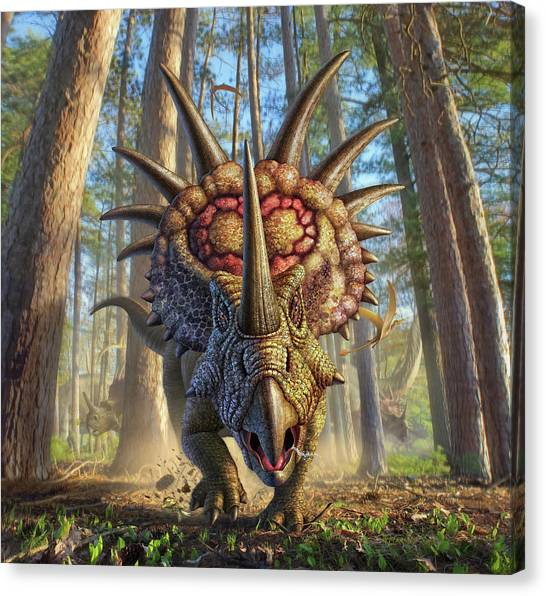 Dinosaurs Canvas Print - Styracon'roll by Jerry LoFaro