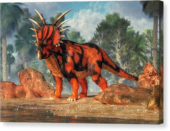 Jurassic Park Canvas Print - Styracosaurus by Daniel Eskridge