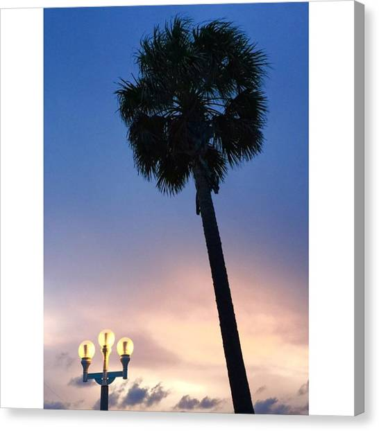 Hollywood Canvas Print - Su Set Ay Hollywood Beach, Florida by Juan Silva