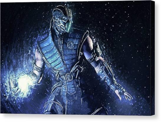 Mortal Kombat Canvas Print - Sub-zero - Mortal Kombat by Zapista