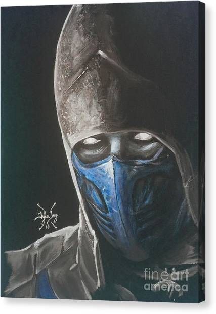 Mortal Kombat Canvas Print - Sub-zero by Tyler Haddox