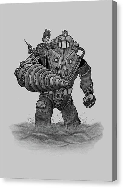 Bioshock Canvas Print - Subject Delta by Keith Granger