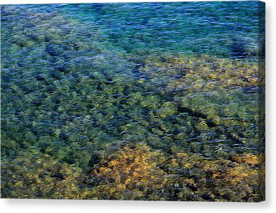 Submerged Rocks At Lake Superior Canvas Print