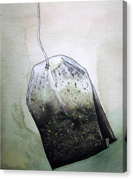 Submerged Tea Bag Canvas Print