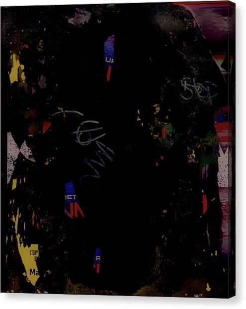 Jasper Johns Canvas Print - Subtext No. 1212017 by Kenneth Rst Vick