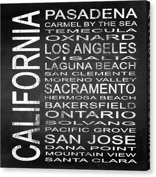 Mountain View Canvas Print - Subway California State 2 Square by Melissa Smith