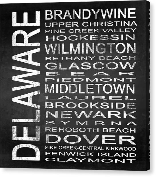 Delaware Valley Canvas Print - Subway Delaware State Square by Melissa Smith