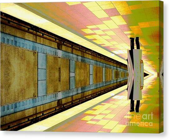 Subway Man Canvas Print