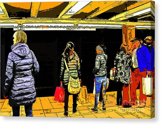 Subway Platform Canvas Print by Gino Inocentes