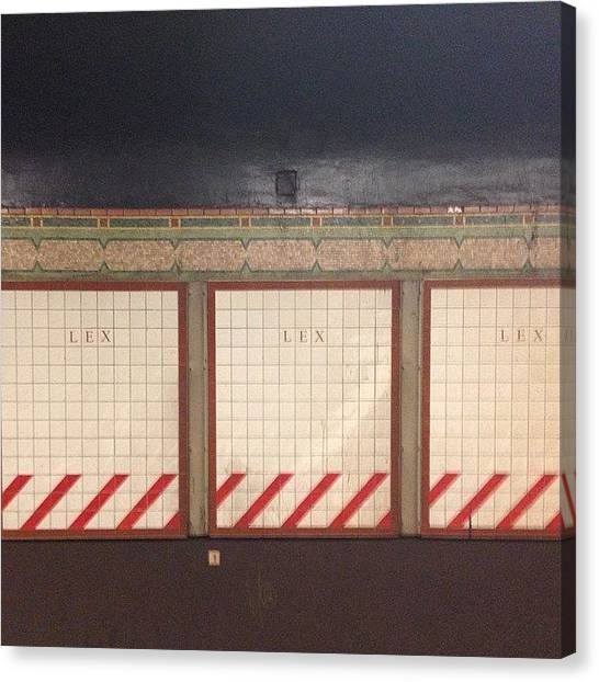 Big Red Canvas Print - Lexington Subway Tiles by Gin Young