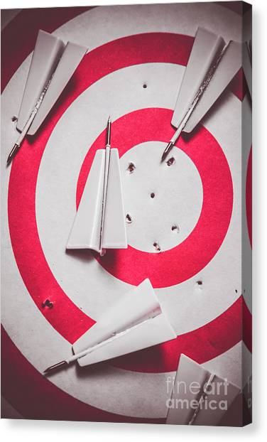 Marketing Canvas Print - Success And Failures. Business Target by Jorgo Photography - Wall Art Gallery