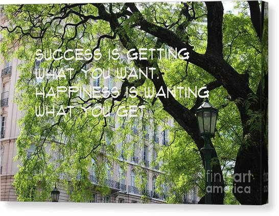 Canvas Print featuring the mixed media Success And Happiness by Wilko Van de Kamp