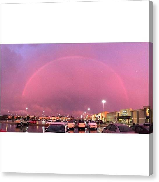Rainbows Canvas Print - Such An Amazing Surprise When I Walked by Joan McCool