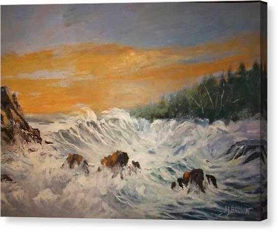 Sudden Turbulence At Suset Canvas Print
