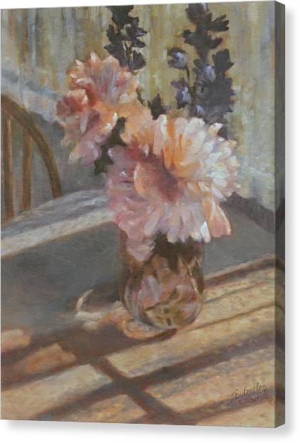 Sue's Peonies Canvas Print by Rita Bentley