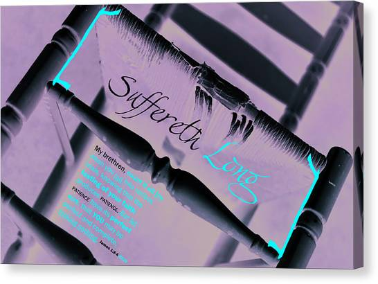 Suffereth Long Canvas Print by Affini Woodley