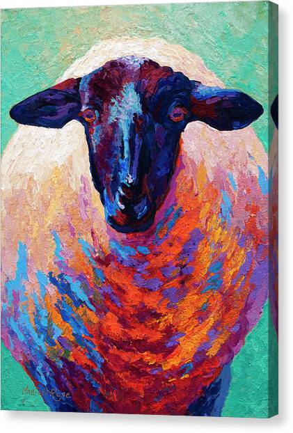 Farm Animals Canvas Print - Suffolk Ewe by Marion Rose