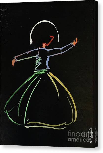 Canvas Print featuring the painting Sufi by Nizar MacNojia
