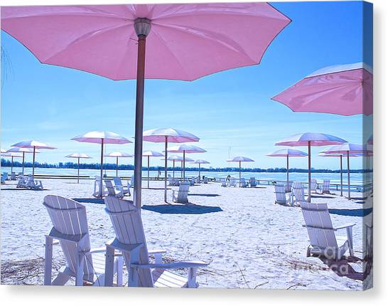 Toronto Fc Canvas Print - Sugar Beach Before The Summer Sets In by Nina Silver