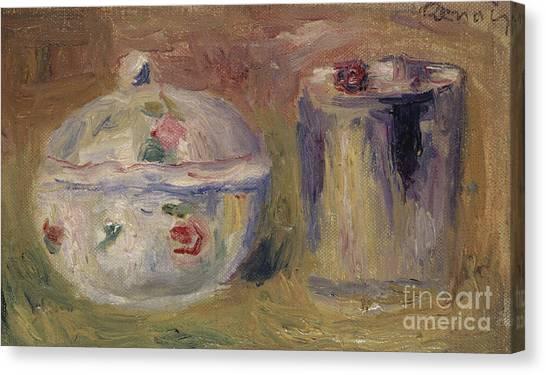 Pierre-auguste Renoir Canvas Print - Sugar Bowl And Beaker by Pierre Auguste Renoir