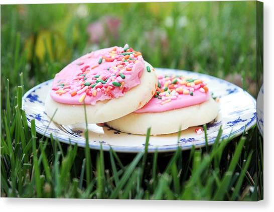Weights Canvas Print - Sugar Cookies With Sprinkles by Linda Woods