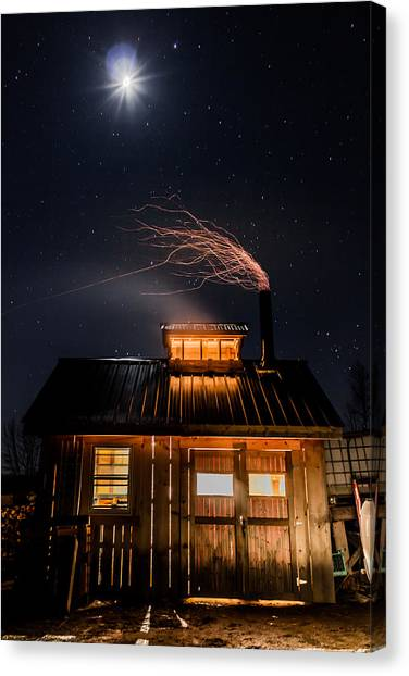 Sugar House At Night Canvas Print