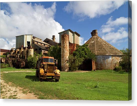 Sugar Mill And Truck Canvas Print