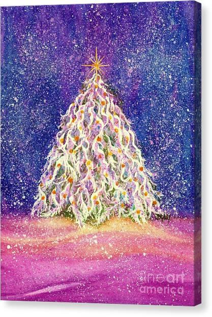 Sugar Plum Forest  - Christmas Tree Canvas Print