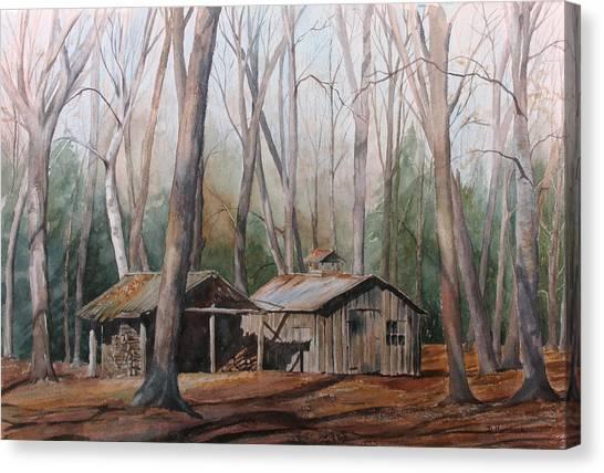 Sugar Shack Canvas Print by Debbie Homewood