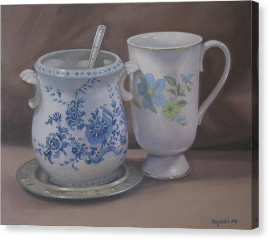Sugarbowl And Teacup Canvas Print