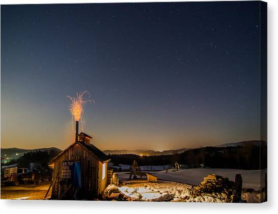 Sugaring View With Stars Canvas Print