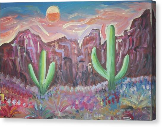 Suggestive Desert Lands Canvas Print by Lindsay St john