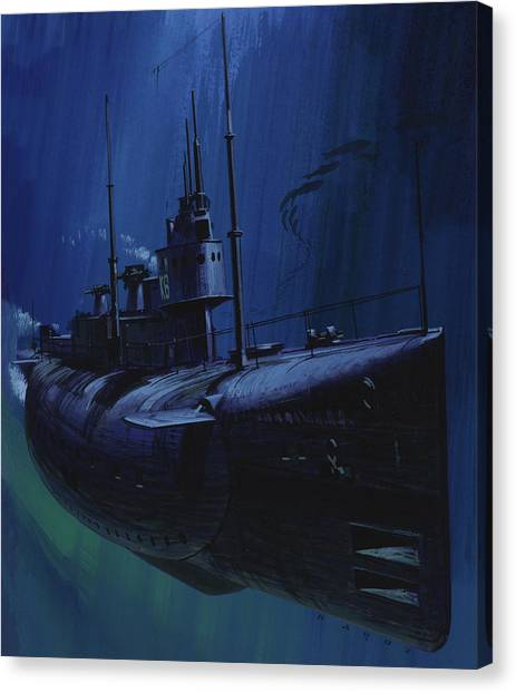 Submarine Canvas Print - Suicide Subs by Wilf Hardy