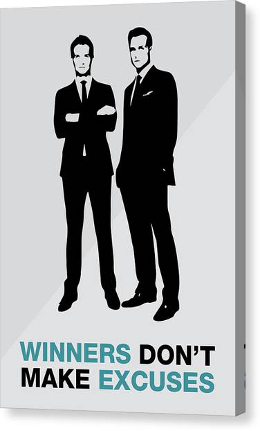 Suits Tv Show Poster Harvey Quote - Winners Don't Make Excuses Canvas Print