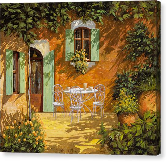 Orange Tree Canvas Print - Sul Patio by Guido Borelli